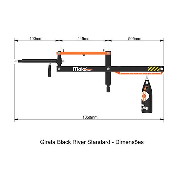 Girafa Black River STANDARD | Com tripé