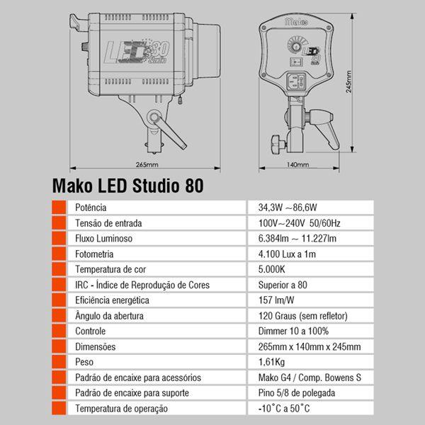 LED Studio 80 - Combo 3