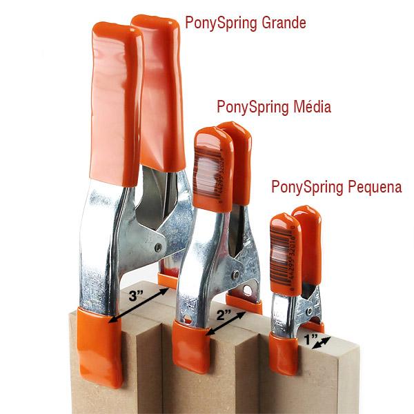 Pinça Pony Spring Pequena | Pack com 3 unidades