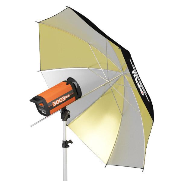 Sombrinha Rebatedora OURO/PRATA - 109,5cm