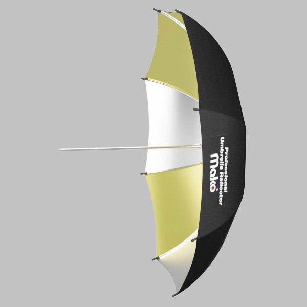 Sombrinha Rebatedora OURO/PRATA - 91,5cm