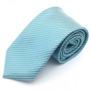 Gravata Azul Turquesa Trabalhada