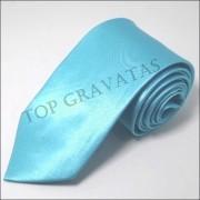 Gravata Azul Turquesa com Brilho