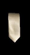 Gravata Pérola/ Off White  Trabalhada