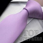 Gravata Lilás Trabalhada