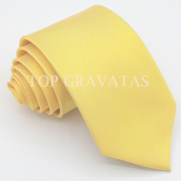 Gravata Amarela Trabalhada
