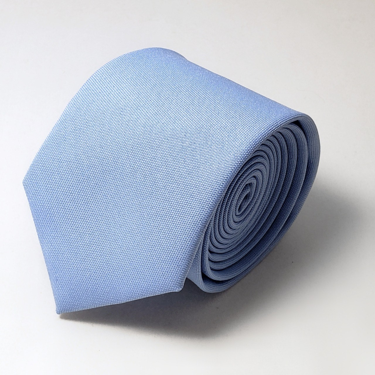 Gravata Azul serenity lisa fosca semi slin