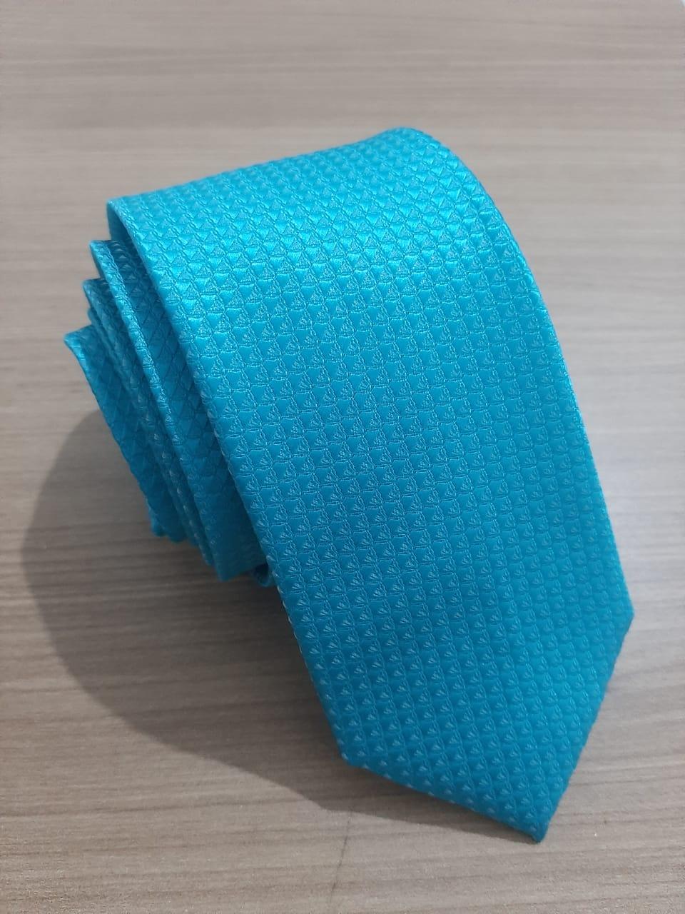 Gravata Azul turquesa