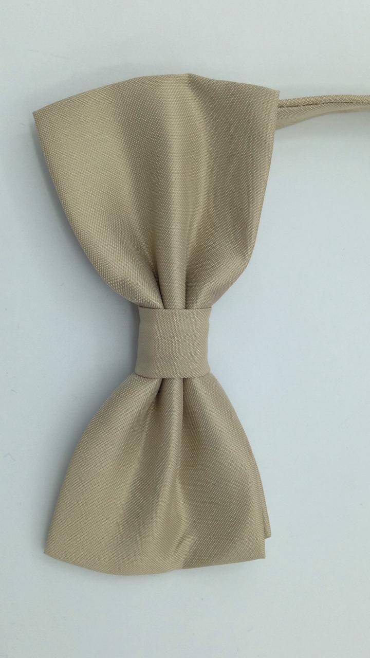 Gravata Borboleta Bege/Nude Adulto