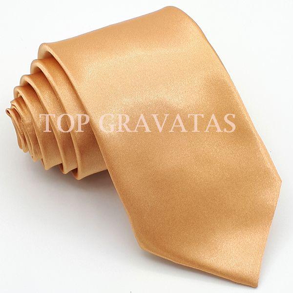 Gravata Cobre lisa com Brilho