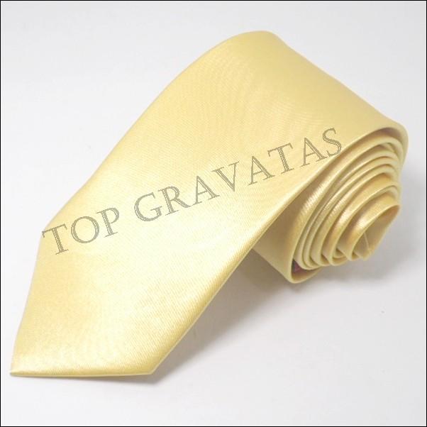 Gravata Dourado Lisa com Brilho