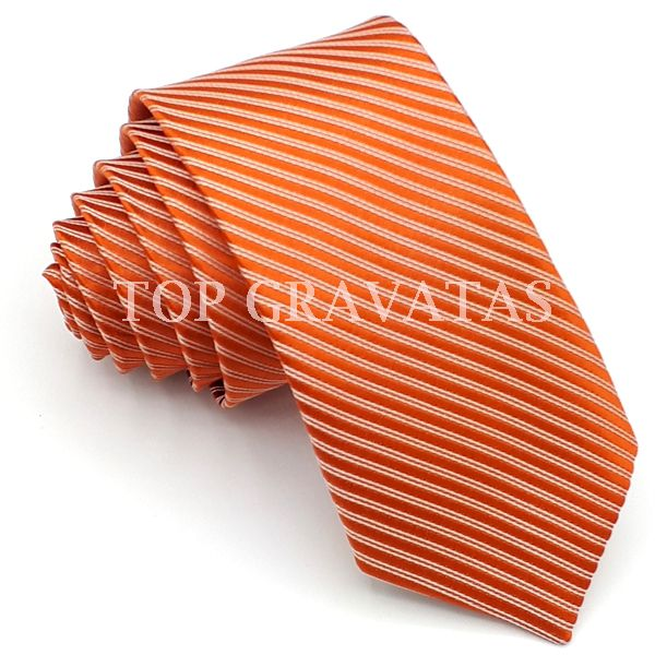 Gravata Laranja Trabalhada