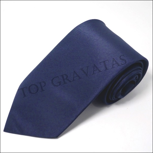 Gravata Lisa Azul Marinho sem brilho