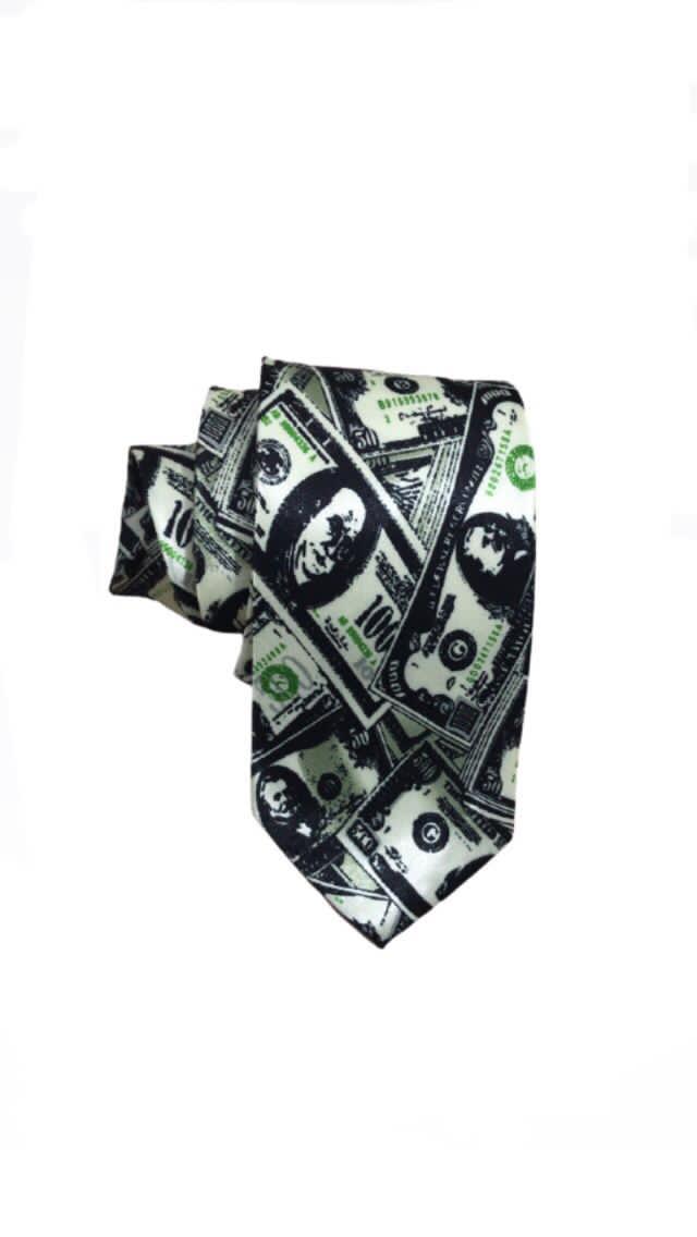 Gravata para corte modelo dólar