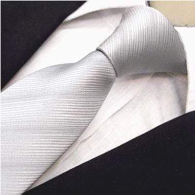 Gravata Prata Trabalhada