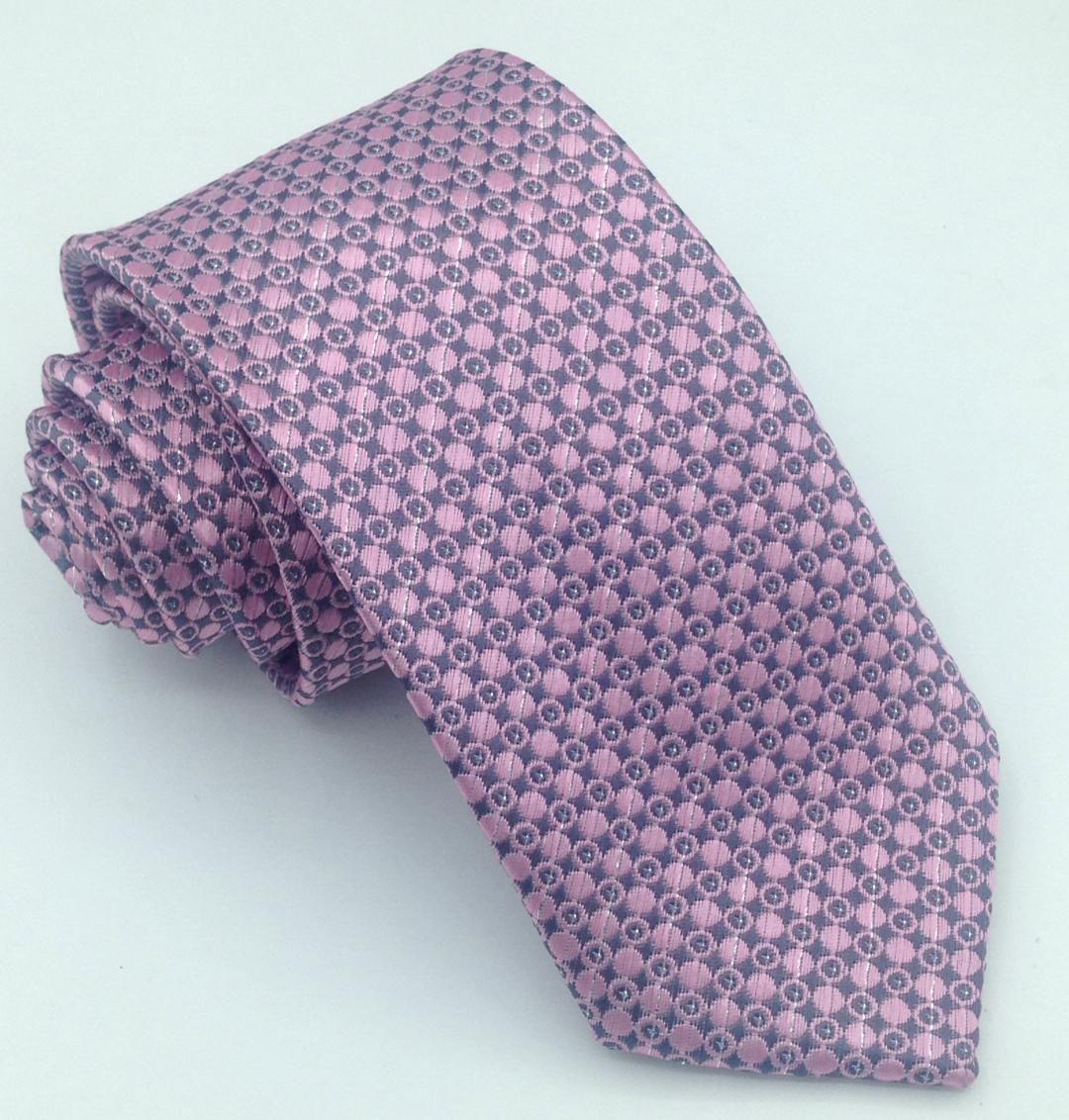 Gravata Rosa Estampado