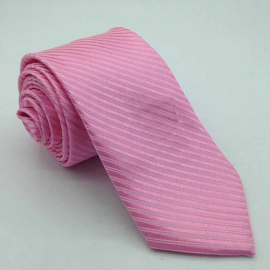 Gravata Rosa Trabalhada