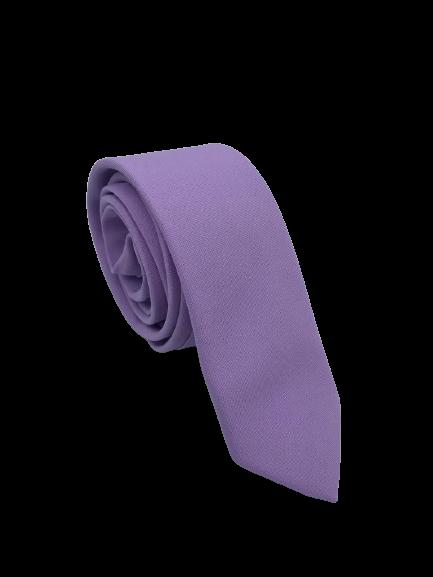 Gravata Semi-Slim Lilás Lisa Fosca