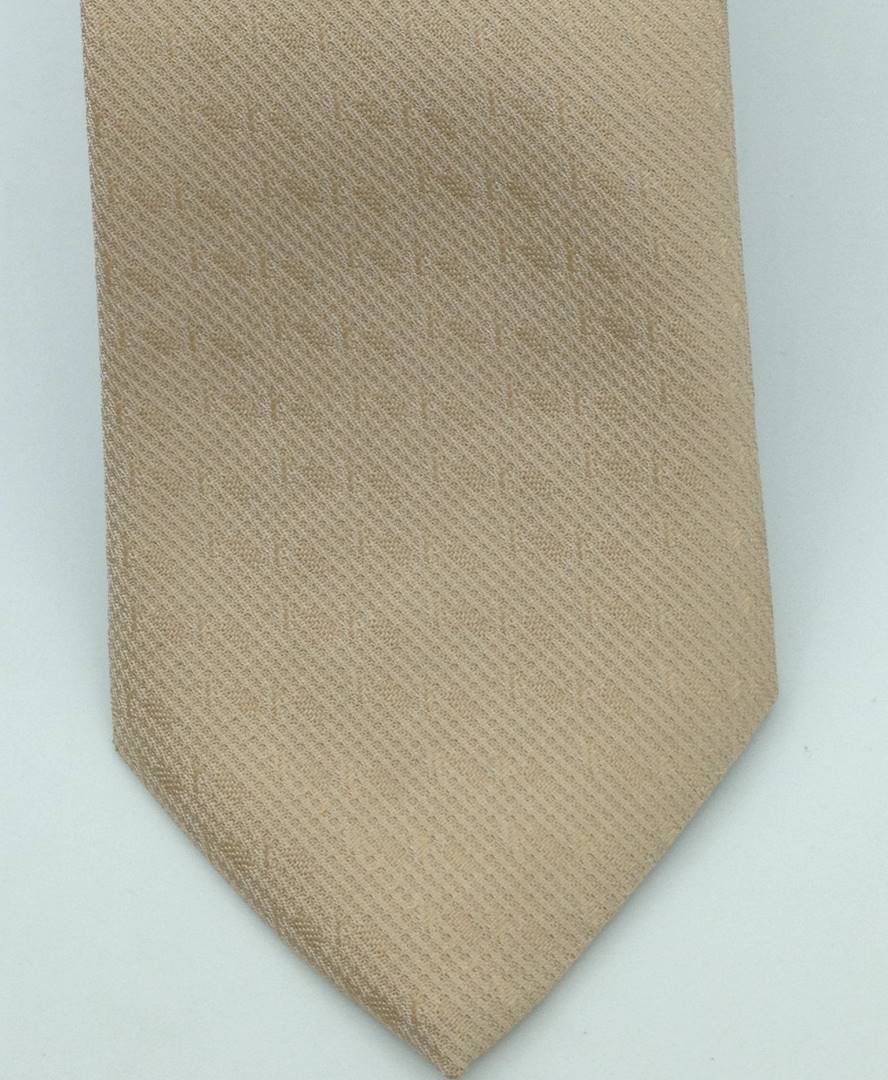Gravata Semi-Slim Nude Trabalhada