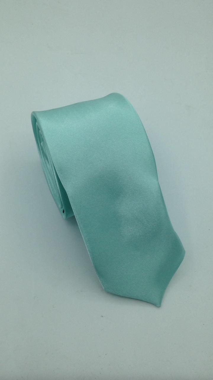 Gravata Verde Agua com brilho