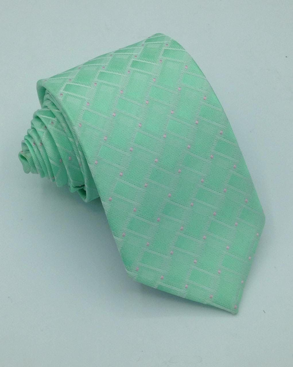 gravata verde agua trabalhada