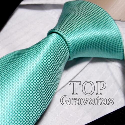 Gravata Verde Tiffany Trabalhada