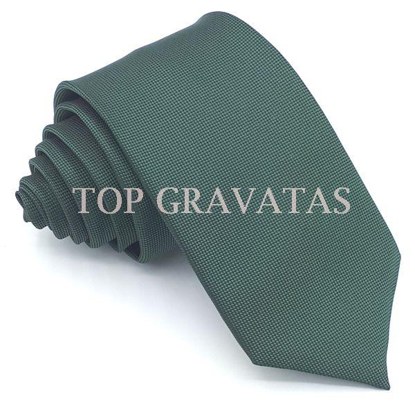 Gravata Verde Musgo Trabalhada