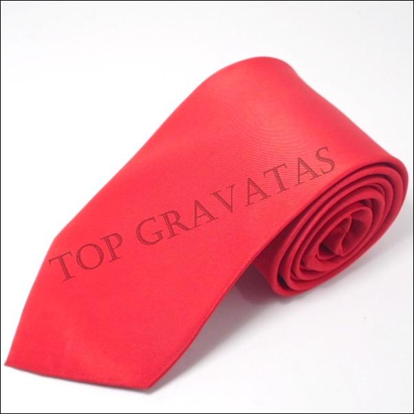 Gravata Vermelha s/brilho