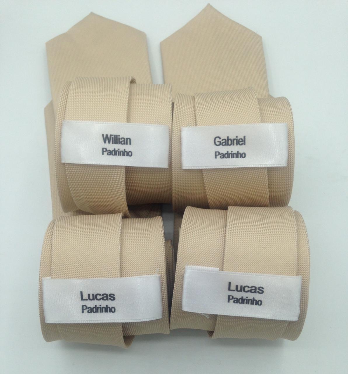 Kit 12 Etiquetas de Personalização para Gravatas