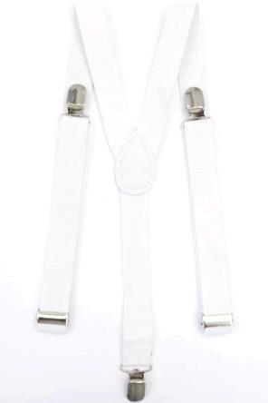 Suspensório de 2,5 cm Branco
