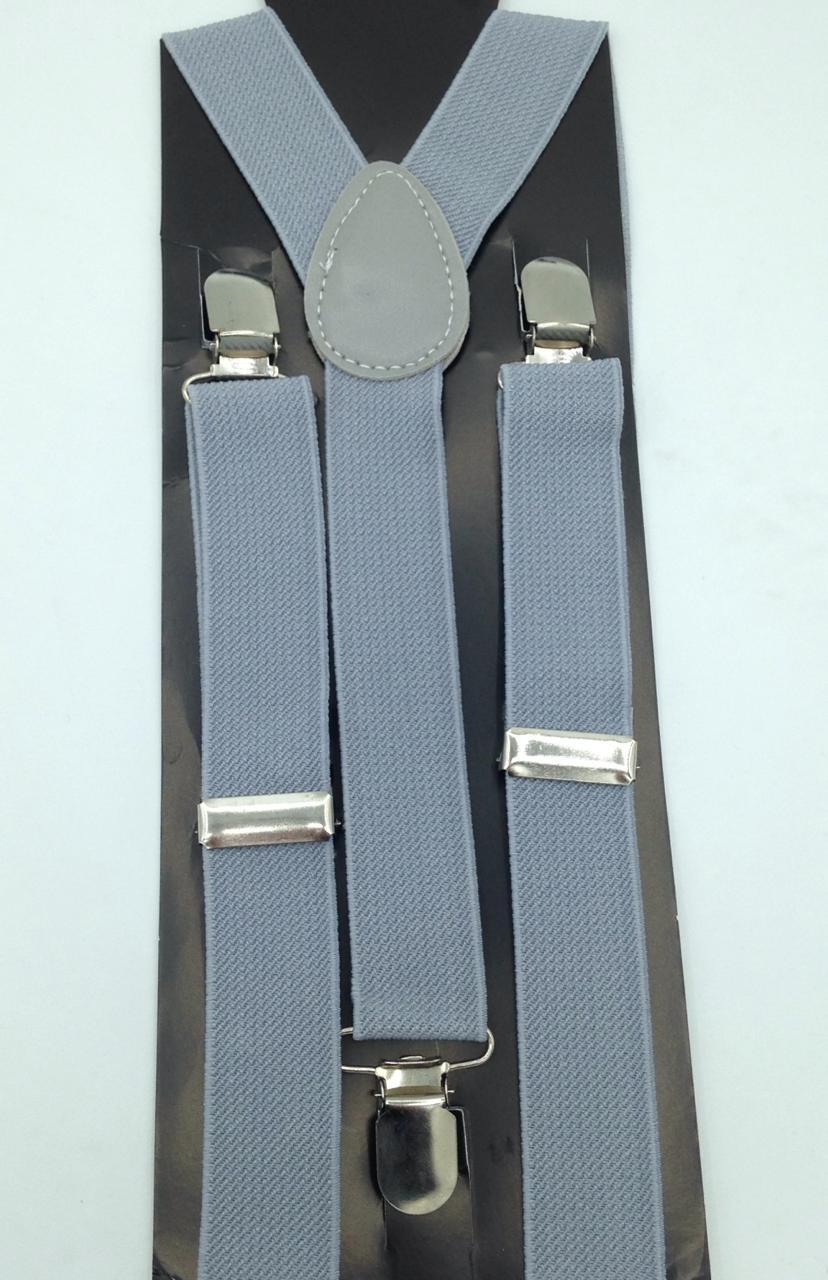 Suspensório de 2,5 cm Cinza