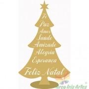 Arvore de Natal 30cm com palavras