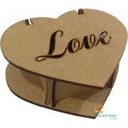 Caixa Coração LOVE 06x06x04