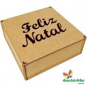 Caixa Quadrada 30x30x10 FELIZ NATAL