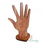 Porta Anéis Mão 6mm Amadeirado