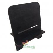 PORTA TABLET 2 REGULAGENS 30/40 GRAUS MDF Preto 6mm