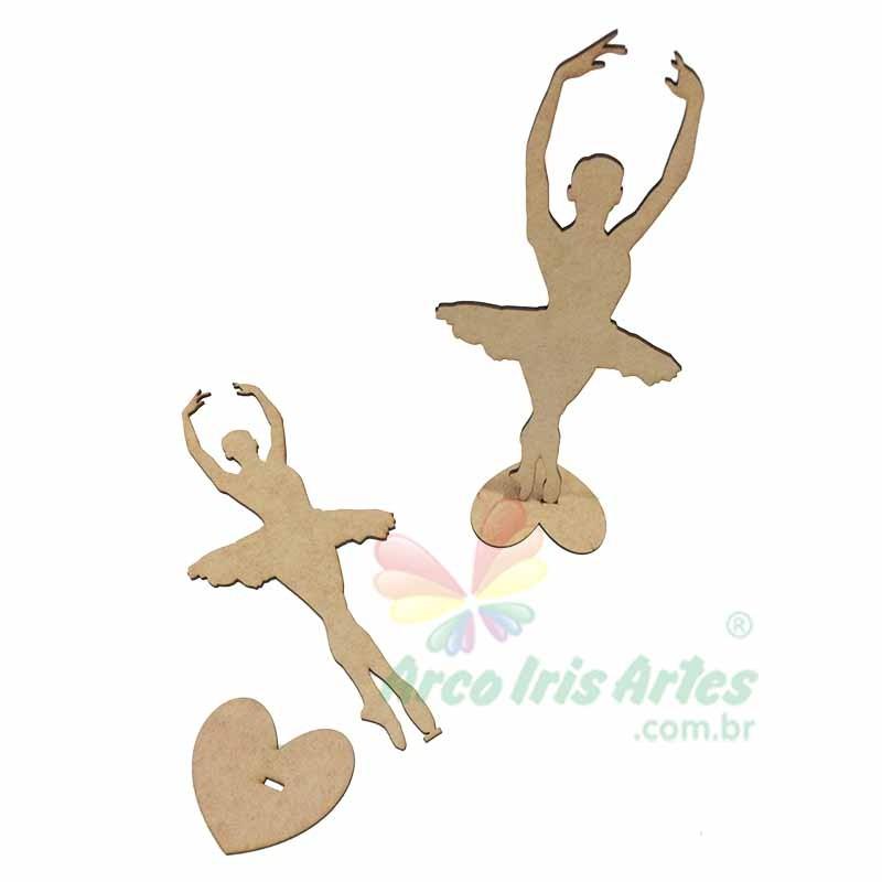 Bailarina com base coração 12cm altura