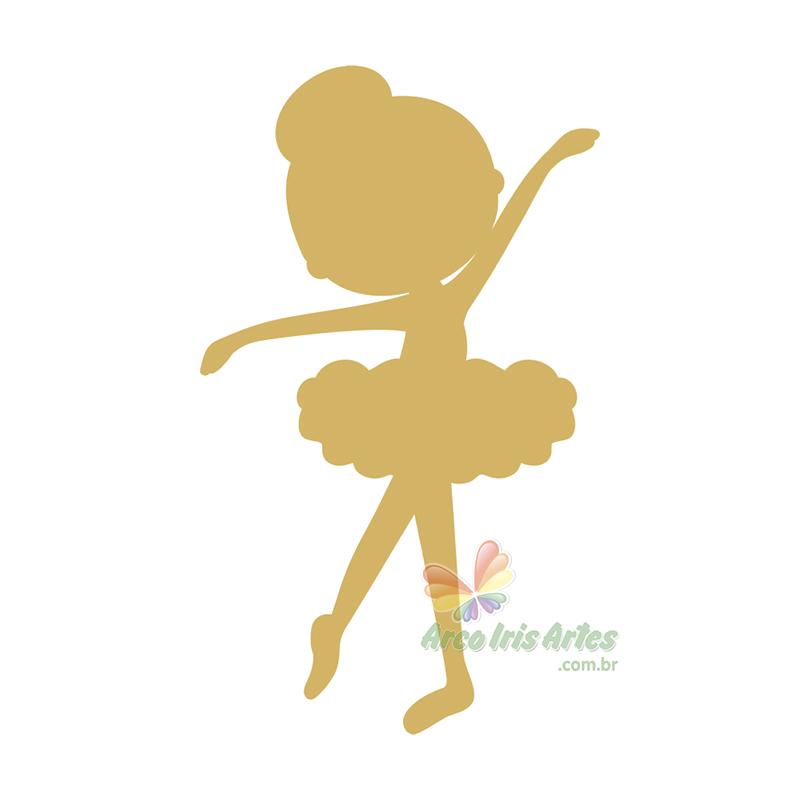 Bailarina Infantil 07x12cm Aplique MDF cru 3mm