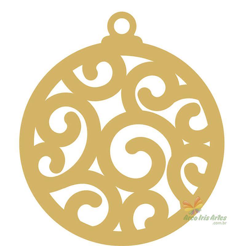 Bola Natal Arabesco 07cm