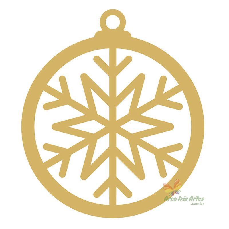 Bola Natal Floco de Neve 07cm
