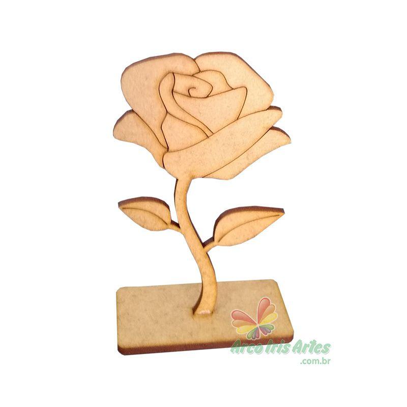 Botão de Rosa com base