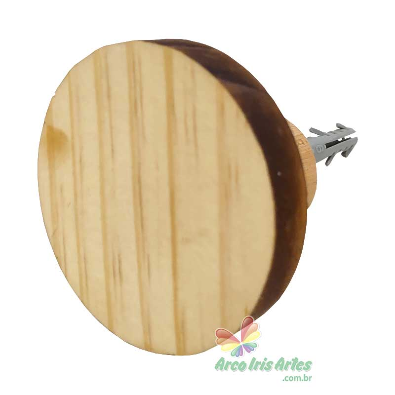 Cabideiro Círculo 06cm Pinus