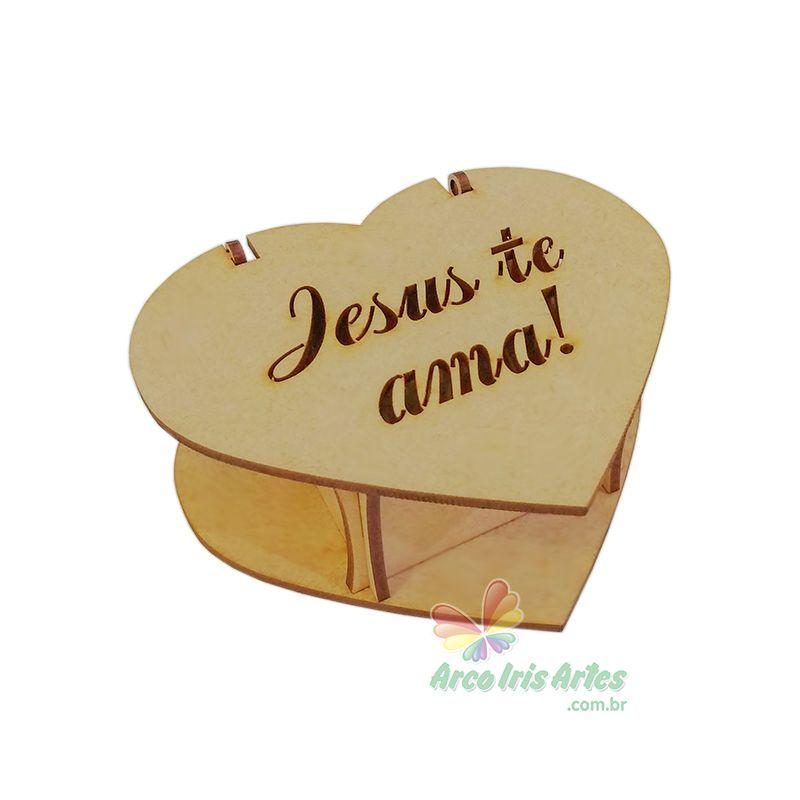 Caixa Coração Jesus te ama