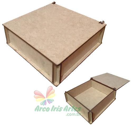 Caixa quadrada 11x11x04cm Borda Reta