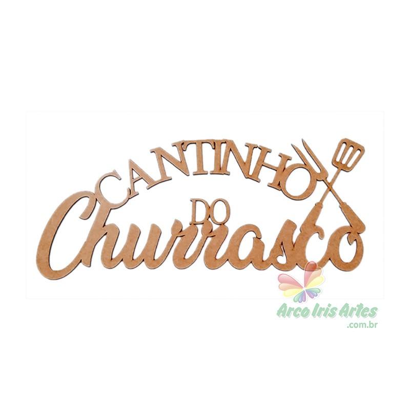 Frase Cantinho do Churrasco 40cm