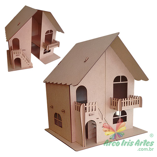Casa de Boneca com abertura