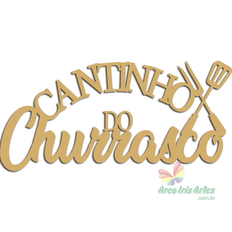 Frase Cantinho do Churrasco 40cm