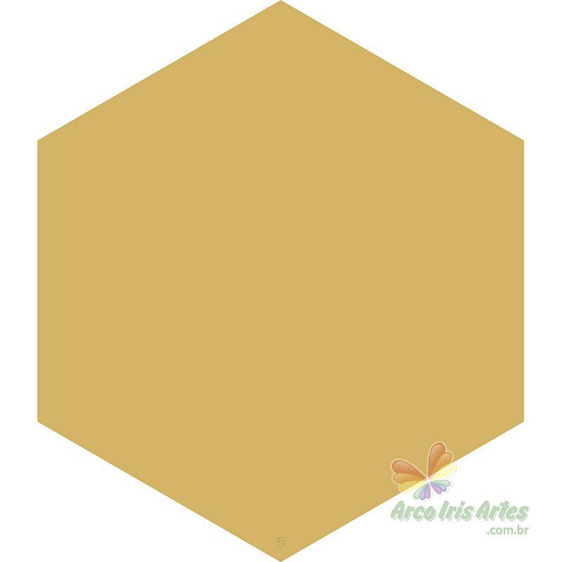 Painel Hexágono 05 26x30cm Cobogó