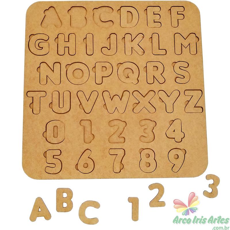 Placa Alfabeto Pedagógico 45x45cm