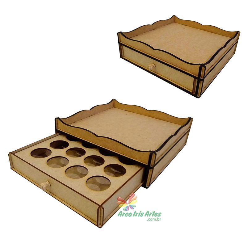 Porta cápsulas bandeja com 01 gaveta para 16 cápsulas Dolce Gusto